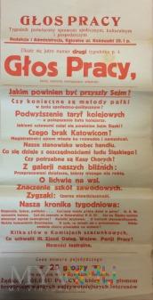 Duże zdjęcie Plakat reklamowy- Głos Pracy-1927