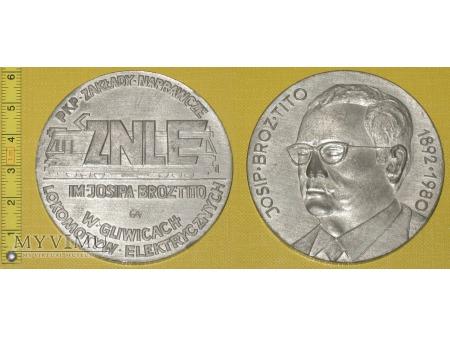 Medal kolejowy - firmowy ZNLE Gliwice