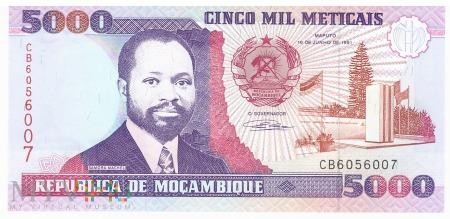 Mozambik - 5 000 meticali (1991)