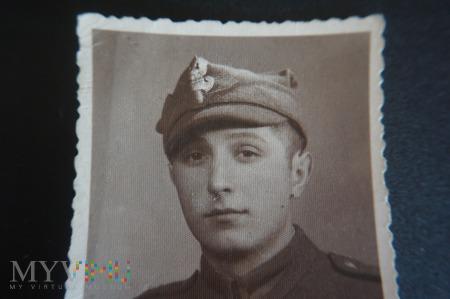 Duże zdjęcie Pamiątkowe zdjęcie - czas wojska i munduru.