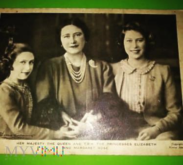 Królowa Elżbieta na Karcie Poczt. sprzed 1948 roku