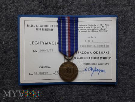 Medal za zasługi dla Obrony Cywilnej PRL