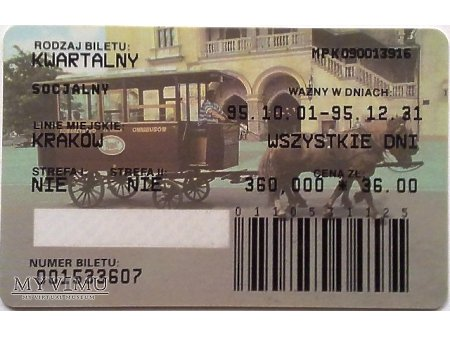 Bilet MPK Kraków 7