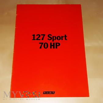 Duże zdjęcie Prospekt Fiat 127 Sport 70HP 1978