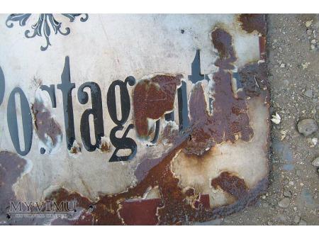 Stary szyld pocztowy