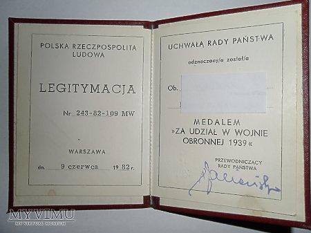 Duże zdjęcie Medal za Udział w Wojnie Obronnej