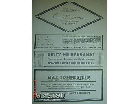 Przewodnik o Trzciance z 1930r.Reklama#4