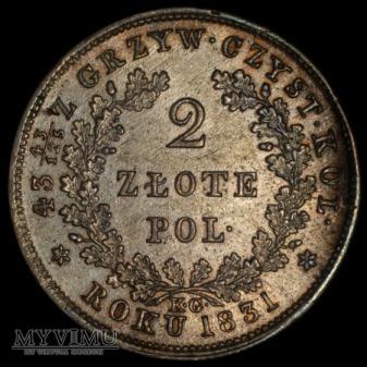 """2 zl 1831 """"bezdaszkowa"""""""