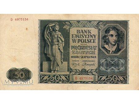 50 Złotych 01.08.1941 r.