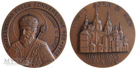 Duże zdjęcie Millenium chrztu Rusi medal (Włochy) 1988