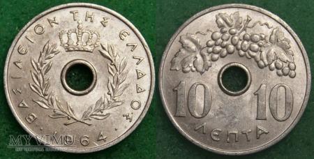 Grecja, 10 Lepta 1964