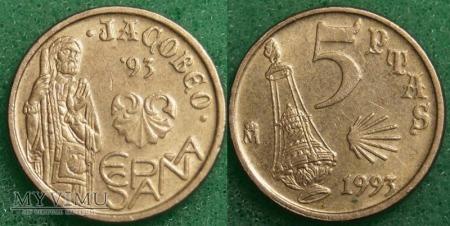 Hiszpania, 5 PTAS 1993