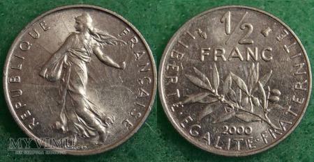 Francja, 1/2 Franc 2000