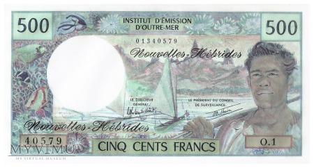 Nowe Hebrydy - 500 franków (1979)