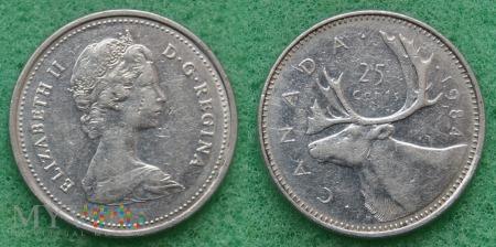 Kanada, 25 CENTS 1984