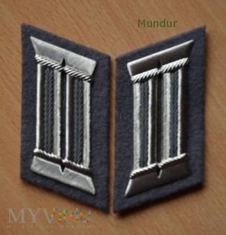 Strafvollzug - patki na kołnierz oficerów 1987-90