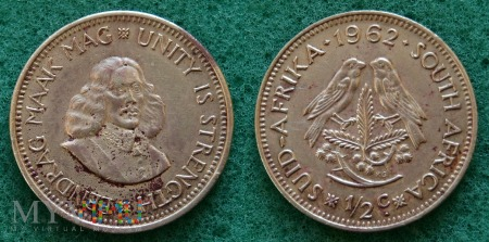 South Africa, 1/2 cent 1962