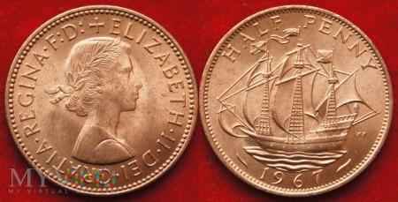 Wielka Brytania, half penny 1967