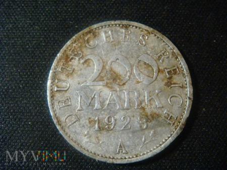 Republika Weimarska 200 mark 1923 ,A