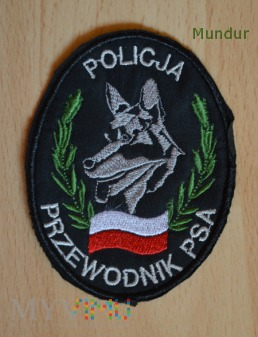 Oznaka przewodni psa - czarna