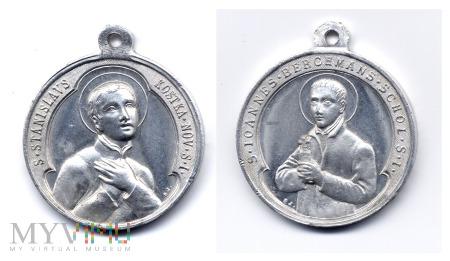 Medalik św. St. Kostka i św. Jan Berchmans