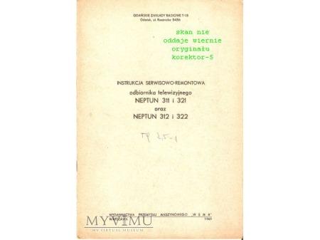 Instrukcja serwisowa TV NEPTUN 311/321, 312/322