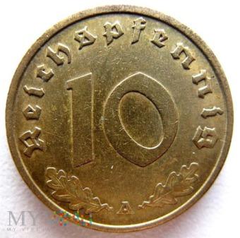 Duże zdjęcie 10 reichspfennigów 1938 Niemcy (Trzecia Rzesza)