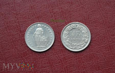 Moneta szwajcarska: 1/2 Fr.