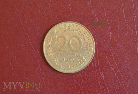 Moneta francuska: 20 centimes