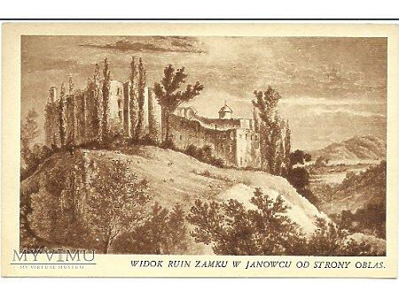 Duże zdjęcie Widok ruin zamku w Janowcu od strony Oblas