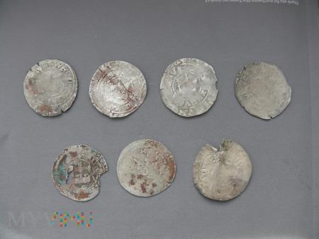 Grosze praskie Wacław IV (III) 7 sztuk