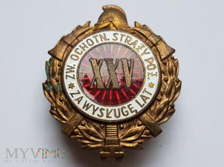 Odznaka Za Wysługę XXV Lat Jednoczęściowa Wypukła