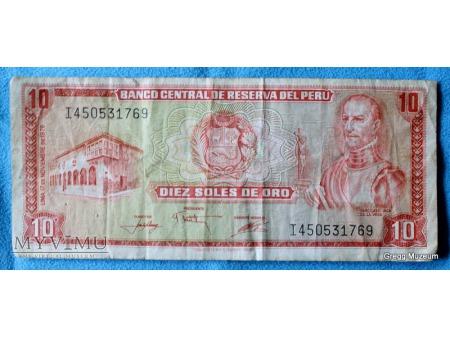 10 SOLES DEL ORO 1976