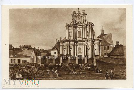W-wa - Kościół Wizytek - przed 1785 Canaletto