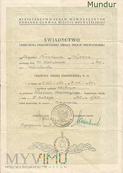 B.Nowakowski - świadectwo ukończenia szkoły podof.
