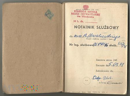 B.Nowakowski - Notatnik Służbowy MO 1981