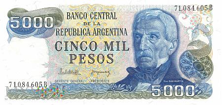 Argentyna - 5 000 pesos (1983)