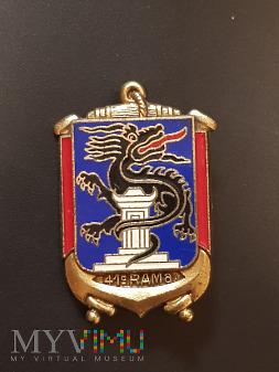 Odznaka 41 Pułku Artylerii Morskiej - Francja
