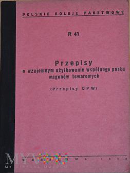 R41-1970 Przepisy parku wagonów towarowych OPW