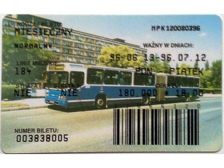 Bilet MPK Kraków 50