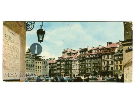 Warszawa Rynek Starego Miasta pocztówka PRL