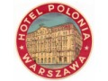Nalepka hotelowa - Warszawa - Hotel Polonia