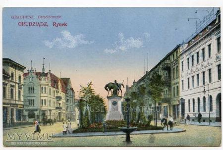 Duże zdjęcie Grudziądz - początek XX wieku - Rynek