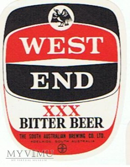 west end xxx bitter beer