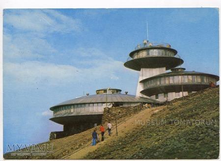 Karkonosze Śnieżka Schneekoppe Obserwatorium 1976