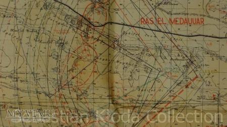 Mapa obrony Tobruku 1:50000 - plan artylerii