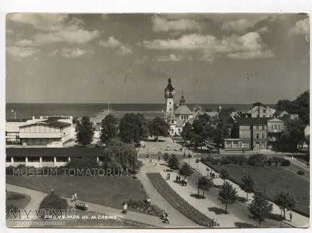 Sopot - promenada na ul. Monte Casino - 1964