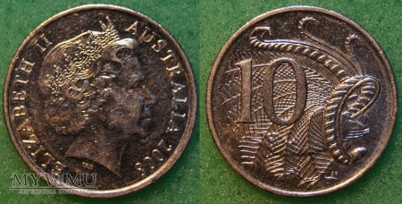Australia, 10 centów 2008