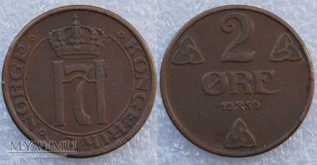 Norwegia, 2 Øre 1950