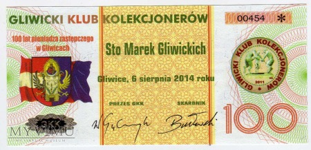 Duże zdjęcie Bon - 100 Marek Gliwickich